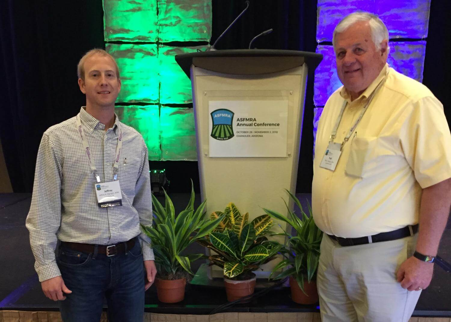 Ted and Jeffrey at 89th ASFMRA Conference